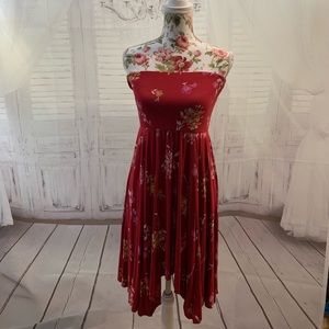 Red floral Dress M